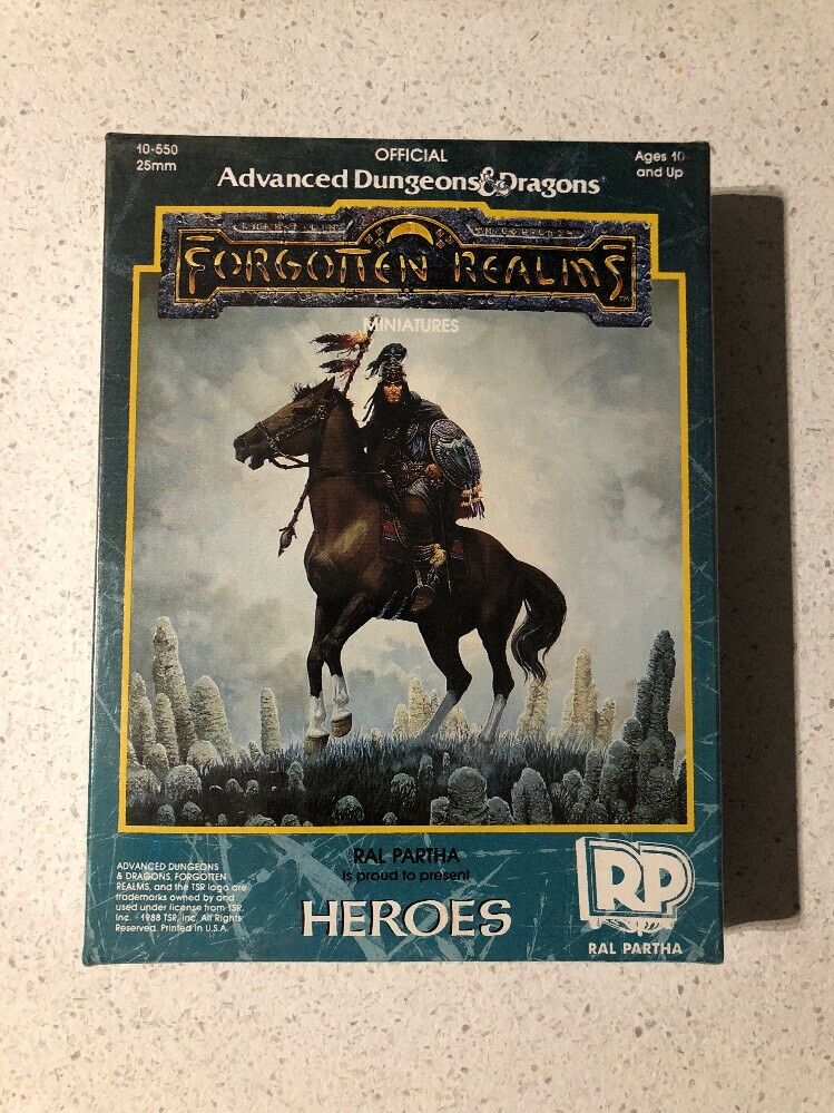 AD&D TSR 10-550 FORGOTTEN REALMS MINIATURE NUOVE NEW NEW NEW RAL PARTHA HEROES 2ade67