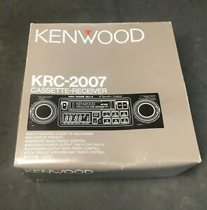 KENWOOD-KRC-2007-Cassette-AM-FM-Radio-Classic-Old-School-Car-Stereo-Combo-NIB