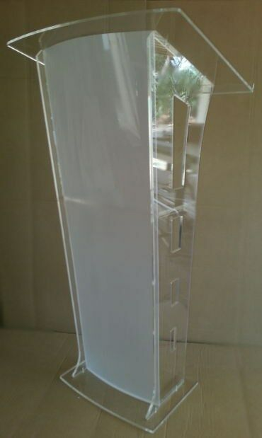 White Colour style Acrylic Podiums