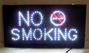 Details about LIGHTED LED NO SMOKING SIGN light up display signs window  flashing lightup new