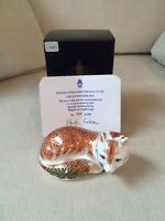 Royal Crown Derby Leicestershire Fox Limited Edition 195 of 1500 Gold Stopper