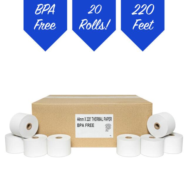 32 ROLLS SHARP XE-A106 57mm 58mm CASH REGISTER PAPER ROLLS