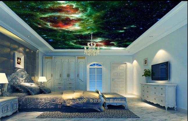 3D Grün Cloud Blau Stars 84 Wall Paper Wall Print Decal Wall Deco AJ WALLPAPER