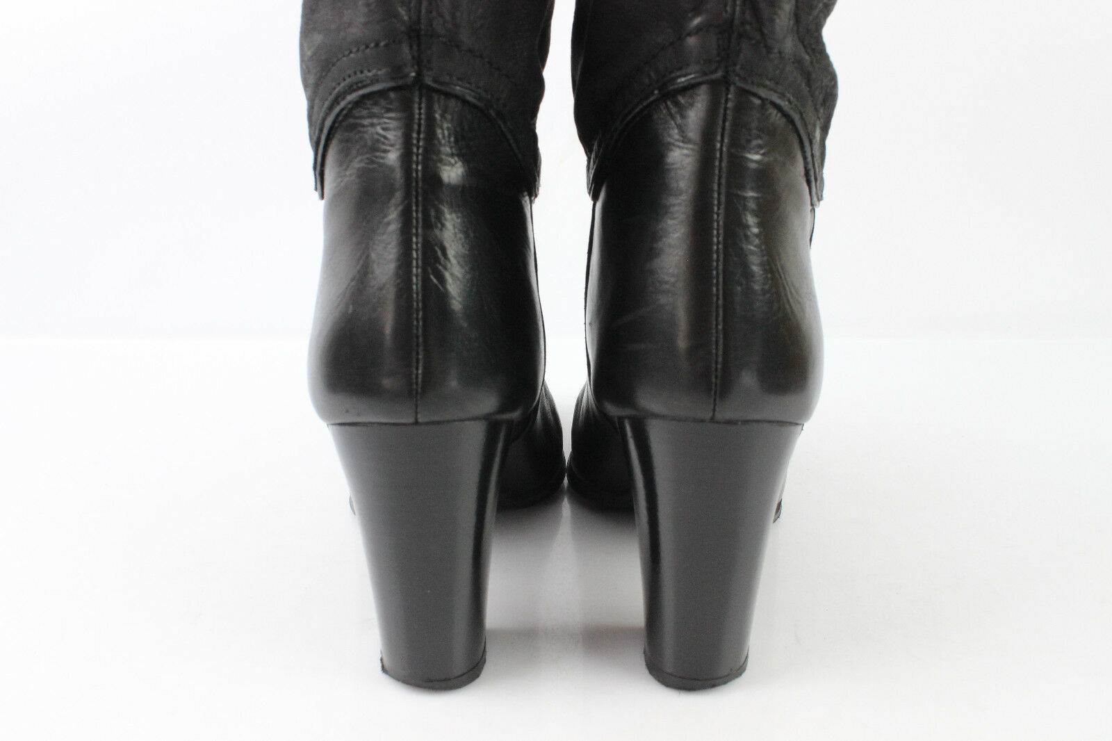 Boots High High High Knee BUTTERFLY Black Leather T 38 VERY GOOD CONDITION d1dfa8
