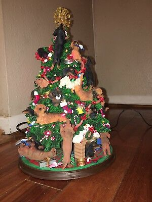 DANBURY MINT DACHSHUND CHRISTMAS TREE WITH LIGHTS ***SEE ...