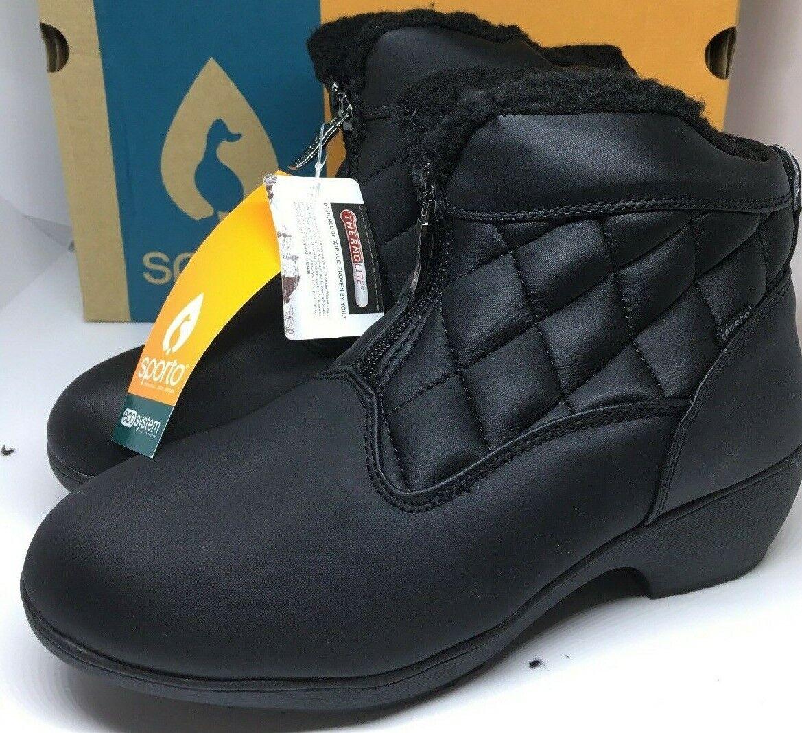 Snow Boots Women's Size 7 Sporto Zelda Waterproof Rain Winter Boots NWT In Box