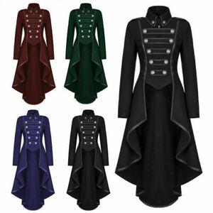 UK-Women-Gothic-Long-Tuxedo-Steampunk-Victorian-Swallow-Retro-Party-Coat-Jacket