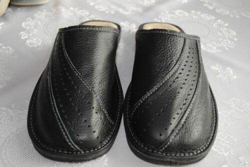 Latschen Winter ! Herren  Pantoffeln Warme Hausschuhe Leder