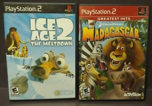 Ice-Age-2-Madagascar-Disney-PS2-Playstation-2-Game-Lot-Works-Complete