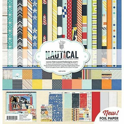 "FANCY PANTS ""NAUTICAL"" 12X12 PAPER KIT SAILING  BOATS SCRAPJACK'S PLACE"