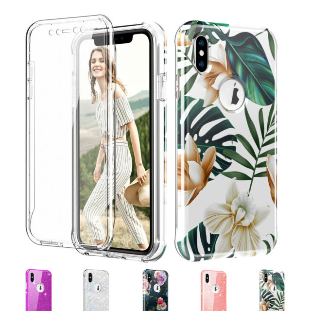best authentic 913db eec96 Hybrid Protective Bling Phone Case For iPhone XR XS Max with Screen  Protector