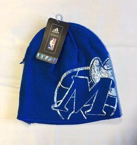 new product e6bbe fee7e Image is loading Dallas-Mavericks-ADIDAS-Knit-Beanie-Toque-Skull-Cap-