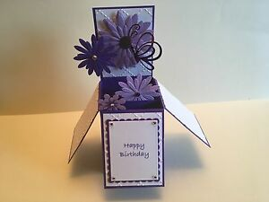 Handmade-card-Happy-Birthday-Personalised-daisy-flowers-with-butterfly-design