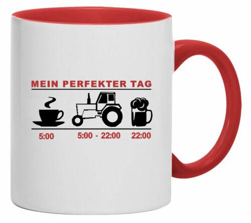 TasseKaffebecherMein perfekter TagTraktorSchlepperBulldog  1017-T Sportbekleidung