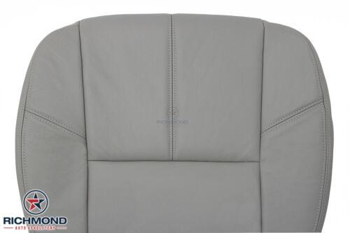 Driver Side Bottom Leather Seat Cover Gray 2007-2014 GMC Sierra SLT HD Z71 SLE