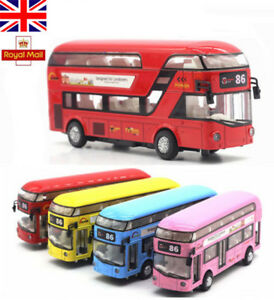 Sound-Light-1-32-Metal-Double-Decker-Tour-London-City-Bus-Pull-Back-Car-Kid-Toy