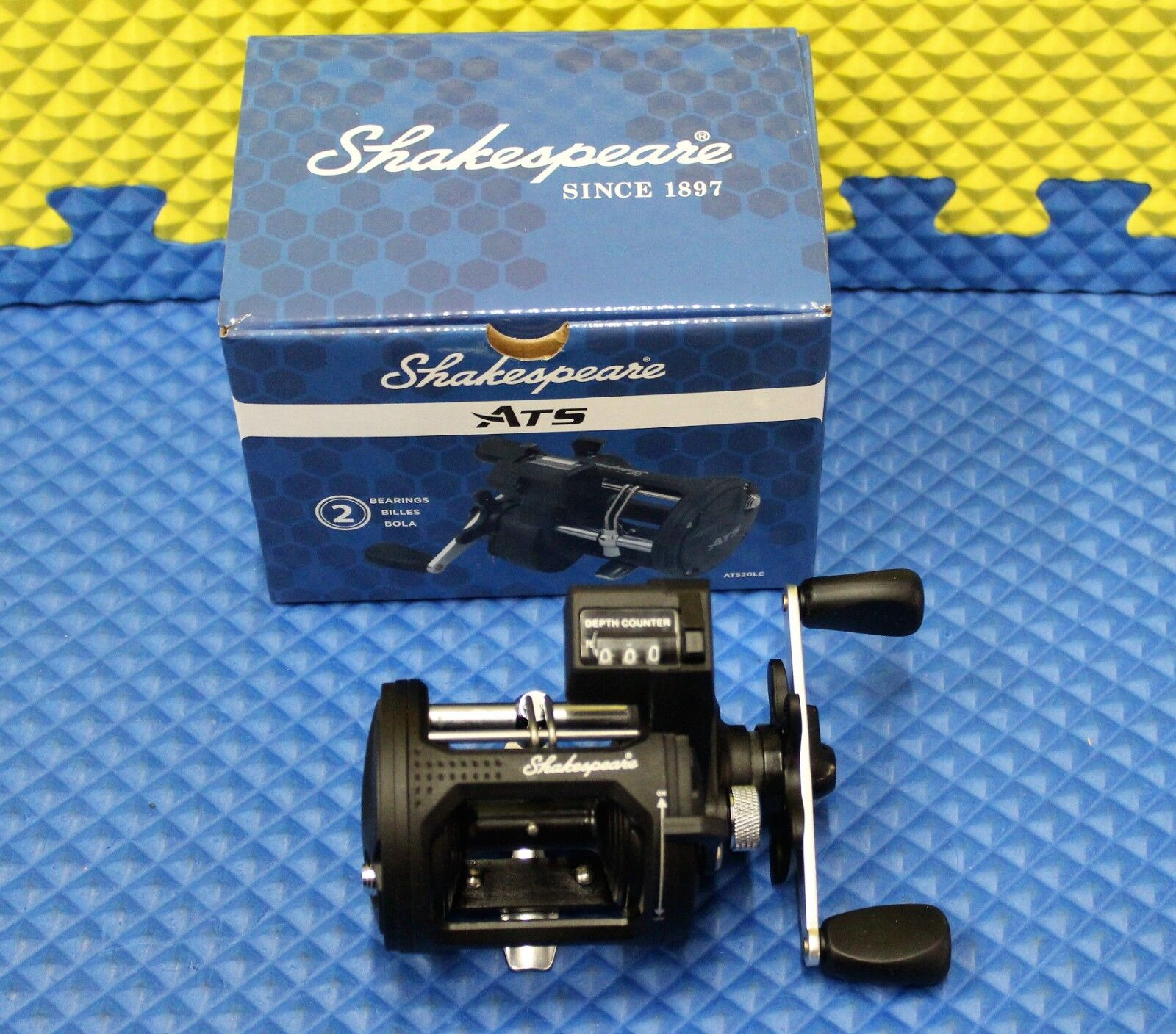 Shakespeare ATS Linecounter Trolling Reel 2BB 5.1 1 Gear Ratio ATS20LCX 1366922