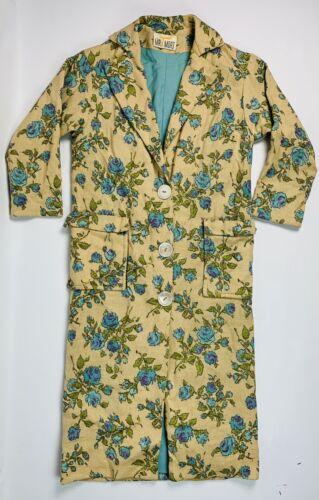 Vintage Mr Mort 50s 60s Medium Women's Burlap Flor