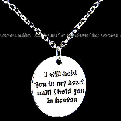 Family Members English Proverbs Love Letter Charm Necklace Simple Pendant Gift