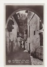Spain, Granada, Una calle del barrio San Pedro RP Postcard, B278