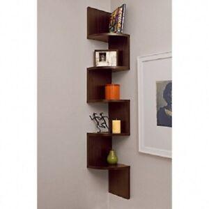 Wall Mount Decor contemporary corner bookshelf wall mount home decor furniture 5