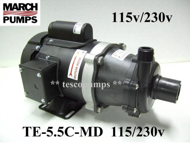 March pump TE-5.5C-MD 1 Phase 115/230V TEFC 0151-0027-0100