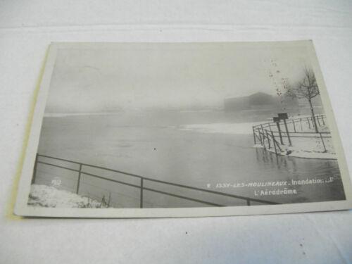 carte postale marque rose - issy les moulineaux  inondation de l'aérodrome