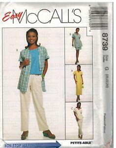 8165 McCalls Sewing Pattern Mens Casual Shirt Tank Top Pants Shorts Easy UNCUT