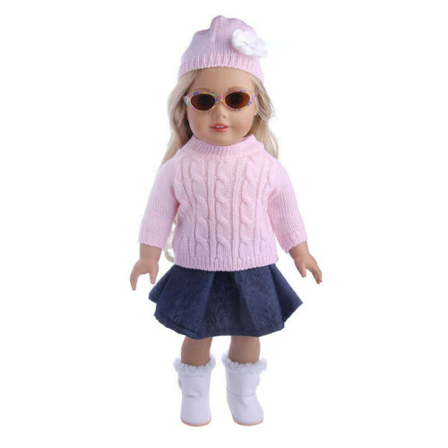 "Handmade Accessories18/"" Inch American Girl Doll Clothes Sweater+skirt+hat set"