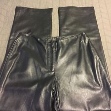 """ISDA & Co textured leather Black flat front Size 8 (30"""") x 31"""" Front Zip Lined"""