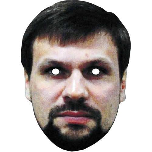 Suspected Spy Ruslan Boshirov Celebrity Card Face Mask All Masks Pre-Cut!!