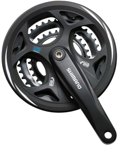 Shimano Altus FC-M311 Chainset 48x38x28T 170MM 7-8 Speed Black With Cover