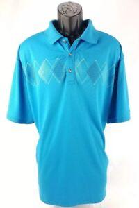 Ben-Hogan-Men-039-s-Performance-Light-Blue-Golf-Polo-Shirt-2XL