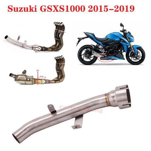 For Suzuki GSXS1000 2015-2019 Slip Exhaust  Eliminator Delete Catalyst Mid Pipe