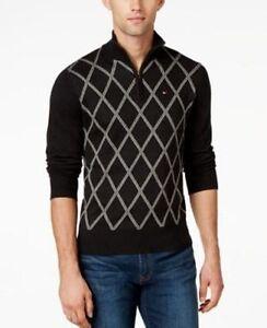 Authentic NWT Tommy Hilfiger Men/'s Argyle V-Neck Pullover Sweater size Medium