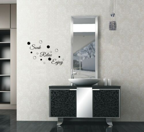 Bathroom Soak Relax Enjoy Wall Quotes Living Room Wall Stickers Wall Art UK 32a