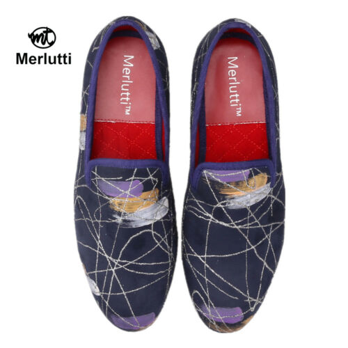 bleue chaussons fabriquᄄᆭ pour peintures Merlutti des ᄄᄂ a l'encre hommesavec des bleus FKJ3Tlc1