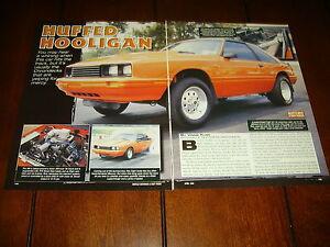 1981 MERCURY CAPRI SUPERCHARGED 306 ***ORIGINAL 1999 ARTICLE***
