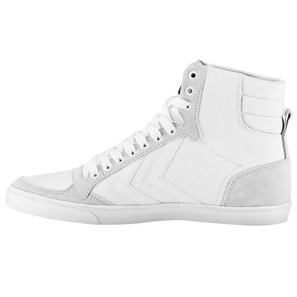 Hummel Slimmer Stadil Tonal High Top Sneaker Freizeit Schuhe WEISS 64-465-9001