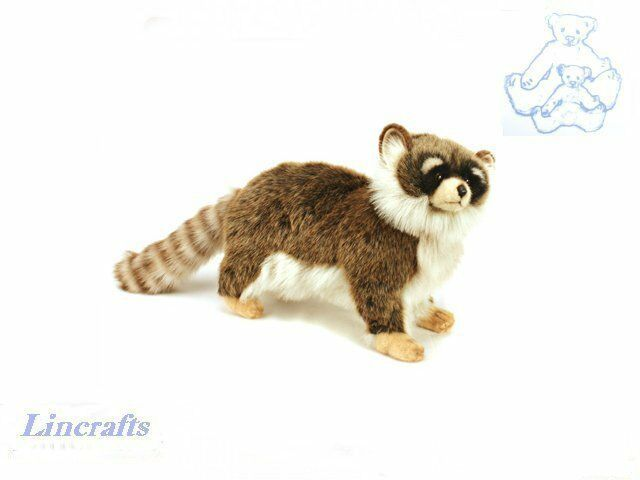Hansa Standing Racoon 3822 Plush Soft Toy Sold by Lincrafts Established 1993