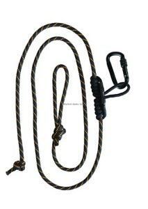 Muddy Safety Harness Linemans Rope W Carabiner Black