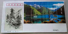 1998-6M China Jiuzhaigou Lake Waterfall Mini-Sheet Stamp FDC