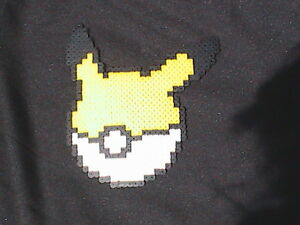 Perler Bead Wall Art Pokemon Pikachu Pokeball Ebay