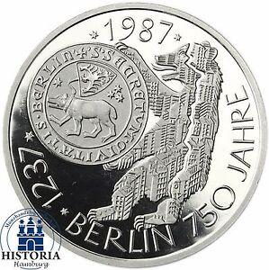 Brd 10 Dm Silber 1987 750 Jahre Berlin Spiegelglanz Münze In