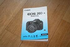 canon EOS 20D Bedienungsanleitung Gebrauchsanleitung Manual Camera Foto