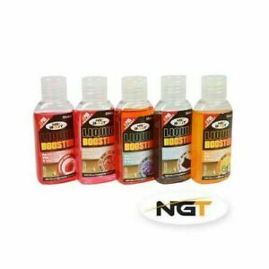 NEW-NGT-5-x-50ml-Liquid-Glugs-Booster-Bait-Additive-PVA-Boilie-Carp-Fishing