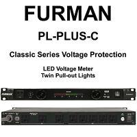 Furman Pl-plus-c 15a Dual Light Led Voltmeter Power Conditioner $15 Instant Off