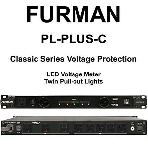 furman pl plus c 15a dual light led voltmeter surge protection power conditioner ebay. Black Bedroom Furniture Sets. Home Design Ideas