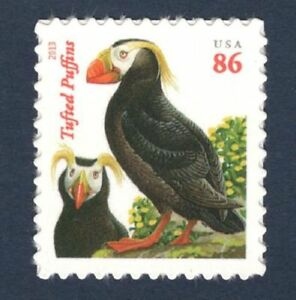Tufted puffin stamp