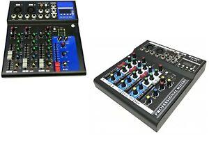 MIXER-AUDIO-PROFESSIONALE-4-CANALI-USB-CON-ECHO-DELAY-dj-karaoke-pianobar